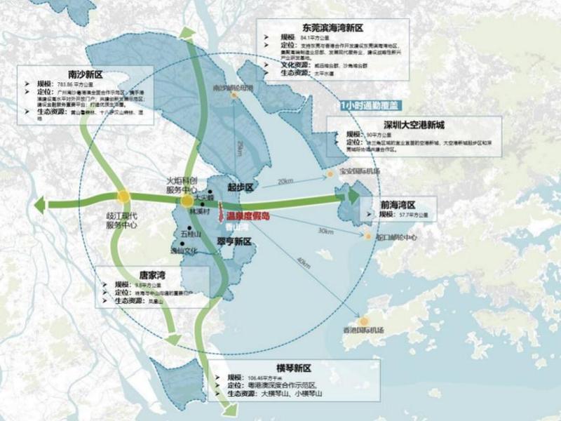 前海对岸将规划22平方公里香山湾温泉度假岛,全球招募设计团队