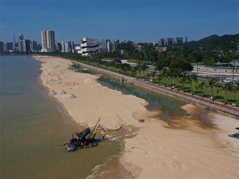 珠海市海天公园沙滩底层填沙完成!预计开放时间是……