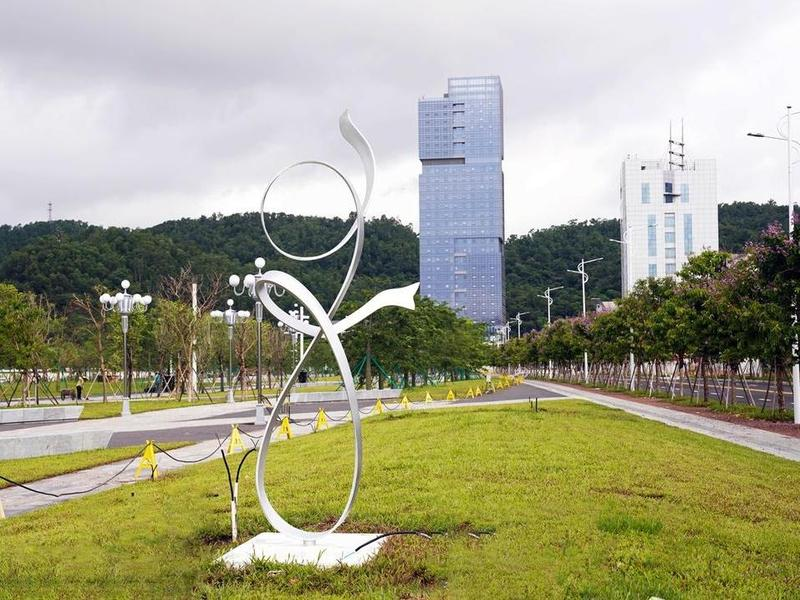"""预计8月完工!珠海市斗门尖峰南片区将新增一处城市""""绿轴"""""""