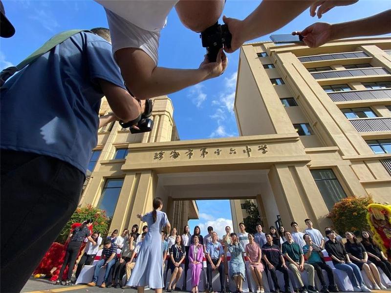 珠海市第十六中学正式启用 迎来300名初一新生