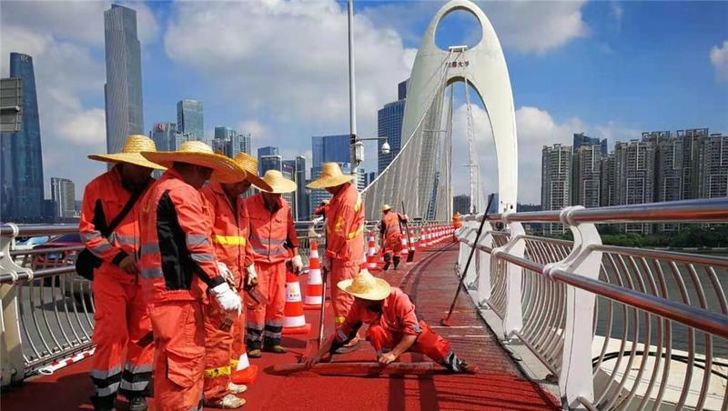 """猎德大桥人行道""""变身"""",广州黑科技了解一下"""