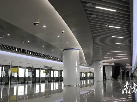 """""""大湾区最快地铁""""车站首度亮相!感受未来感和科技范"""