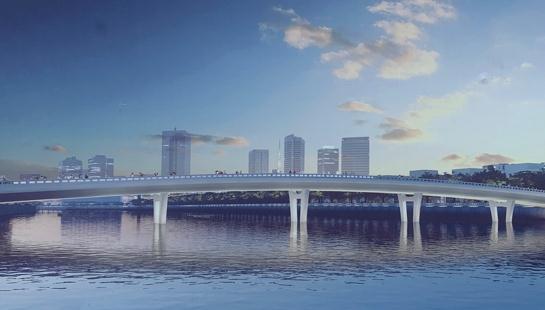 二沙涌人行桥工程最新进展来了!总投资6988万元