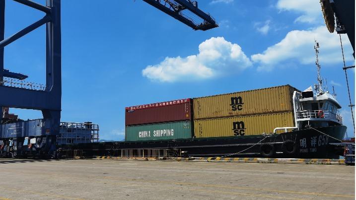 高栏—南沙!珠海高栏港首条内外贸同船运输航线启航