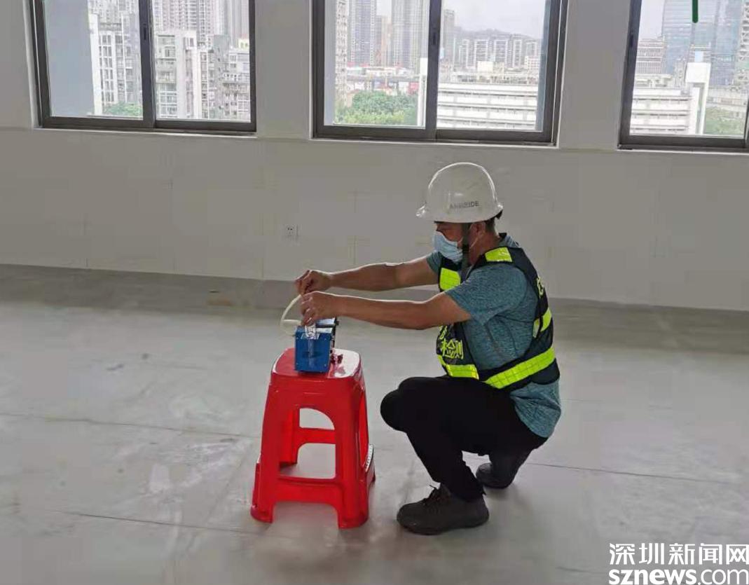 龙岗区27所新建校园内环境检测100%达标
