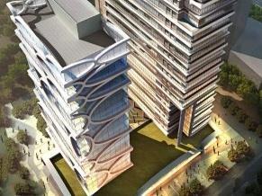 小可乐国际智能车生态大厦封顶 将打造新能源生态产业基地
