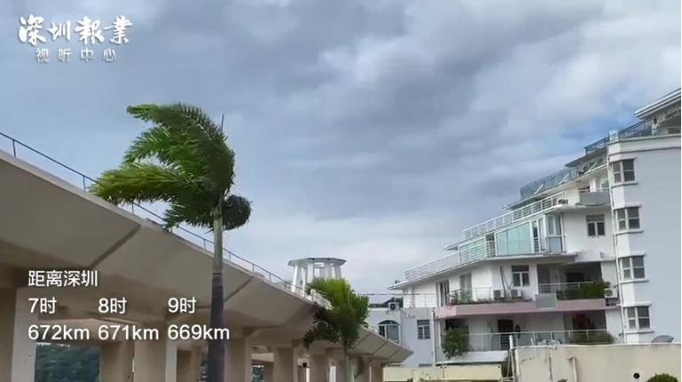"""在大梅沙看台风""""圆规""""一天走了多远"""