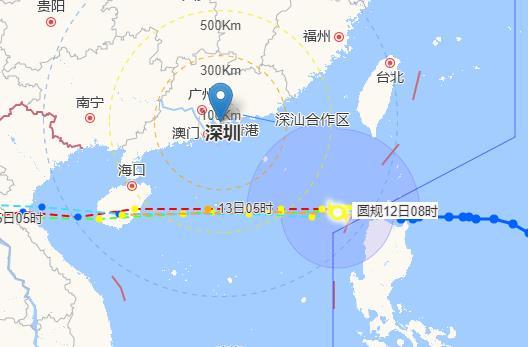 """台风""""圆规""""凌晨进入南海 将根据实况研判是否升级台风黄色预警信号"""