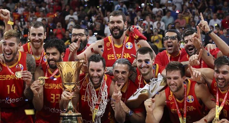 男篮世界杯:西班牙队击败阿根廷队夺冠