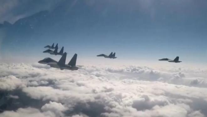 台媒称台军机被解放军6架战机包夹