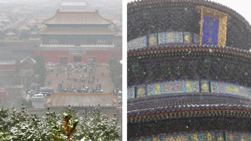 """""""别样的美感""""——北京初雪见闻"""