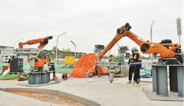 全国首个3D打印景观广场工程落地深圳,两个月后即可观赏