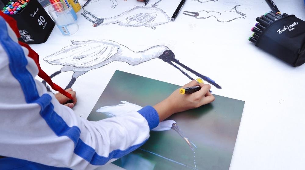 保护地球绿丝带,华新小学学子共绘美好家园