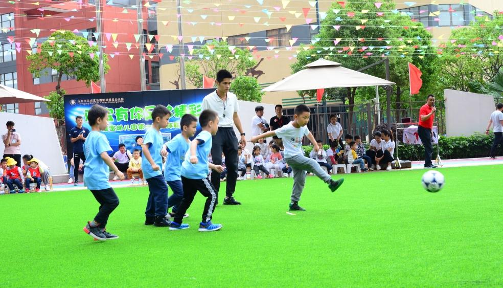 """""""雅宝有你·足够精彩""""雅宝幼儿园幼儿们的足球盛会"""
