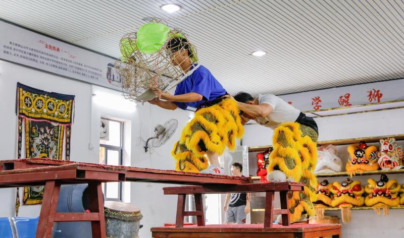 玉律醒狮现场教学点成醒狮文化传承基地