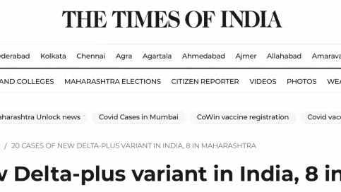 """印度发现""""德尔塔+""""变异株 ,莫迪还在说瑜伽"""