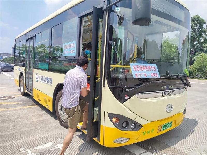 江门公汽加强防疫措施,所有公交车已安装测温仪