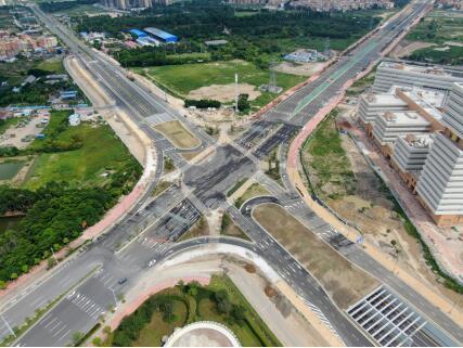荷岳路—林上路快速化改造一期工程获评佛山市市政基础设施优良样板工程