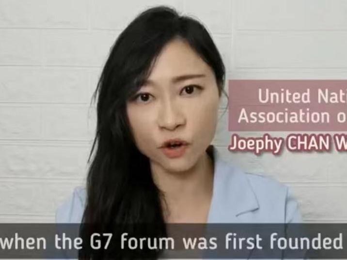 香港青年代表陈颖欣、陈家佩向世界讲述香港真相