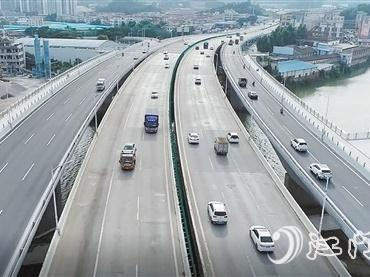 """江门五邑路扩建工程预计10月底全线基本通车 这份""""出行指南""""请收好"""