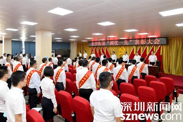 """表彰先进树榜样 龙田街道召开""""两优一先""""表彰大会"""