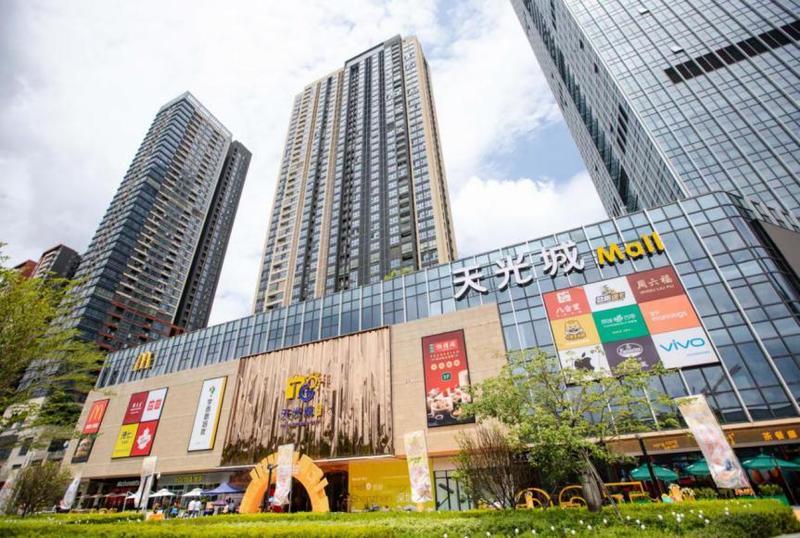 龙岗天光城购物中心开业,为居民提供吃喝玩乐新去处