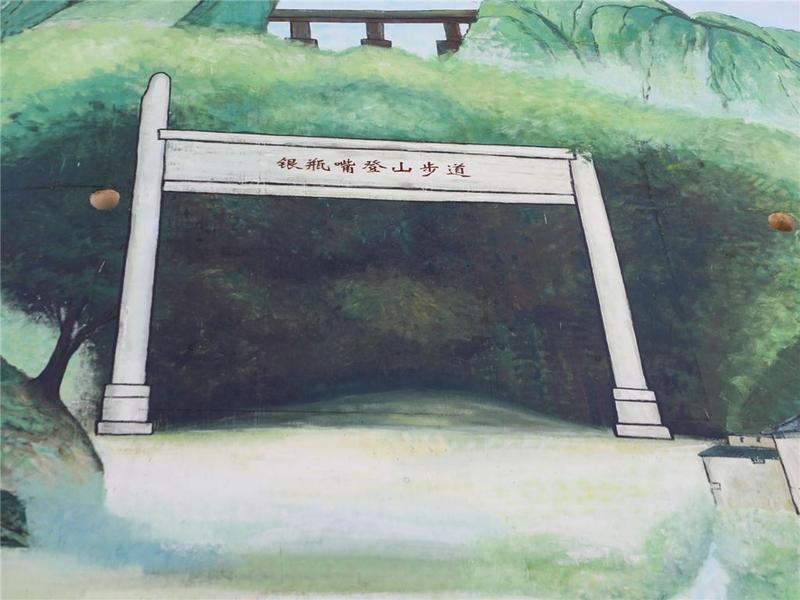 东莞市谢岗镇最高墙绘亮相!28米桥墩上勾勒银瓶山景