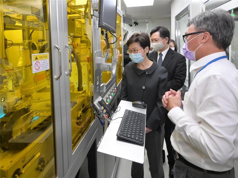 林郑月娥到访生物科技初创公司