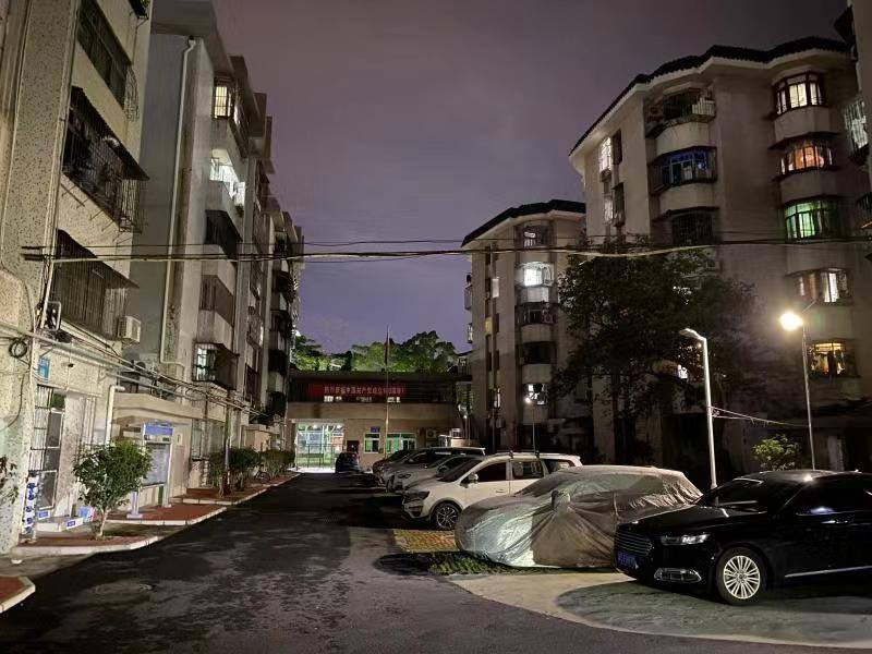 海虹社区安装66盏太阳能灯,方便老旧小区居民出行