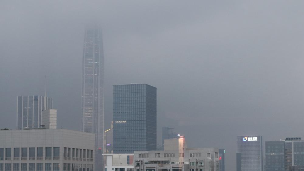 """滚动 受台风""""卢碧""""影响 罗湖分区暴雨黄色预警升级为橙色"""