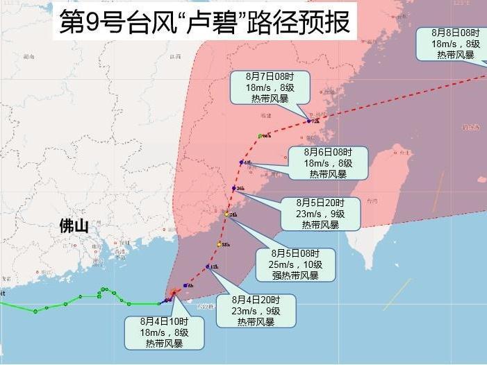 """台风继续""""发货"""",佛山未来两天有大到暴雨"""