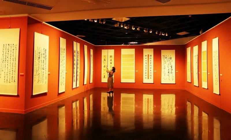 大美园山——深圳市行草书法作品展开幕 持续至9月6日