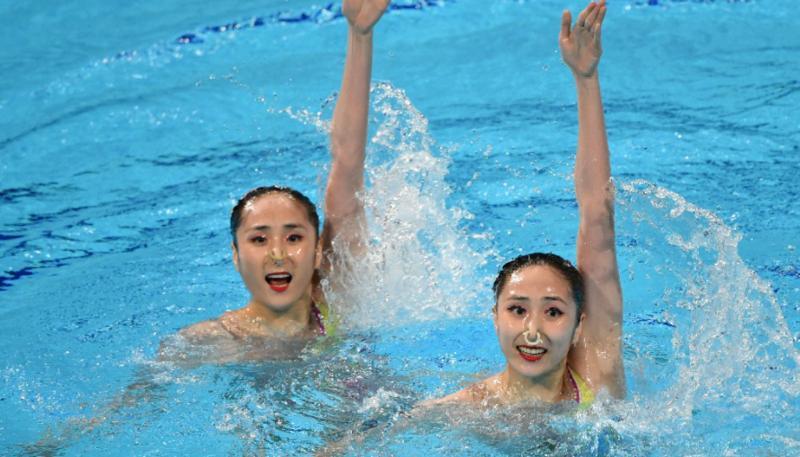 ?全运会深圳首枚奖牌落袋 双胞胎姐妹花夺花样游泳银牌