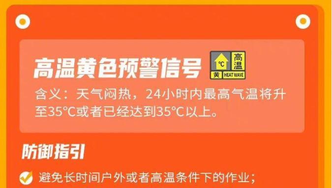 今日最高气温将达35℃以上!深圳发布高温黄色预警