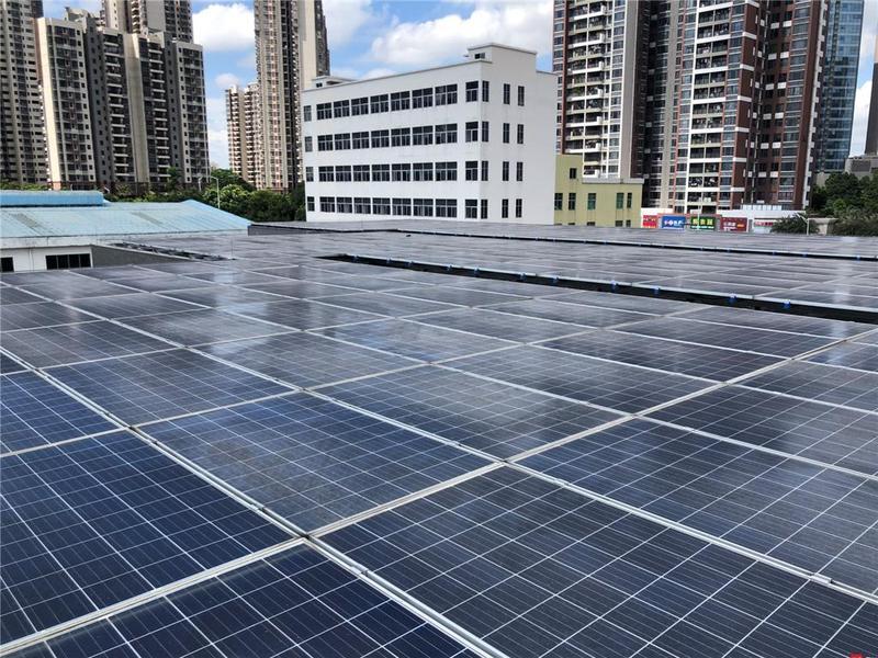 楼顶铺满光伏发电设备!东莞市企业节能有妙招