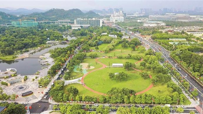 市民遛娃休闲又添好去处!坪山区中心公园大草坪全新亮相