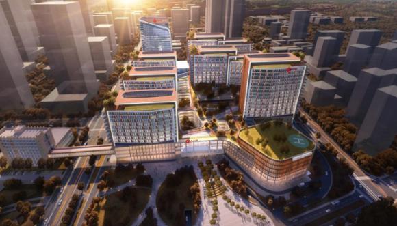 """""""中山七院""""二期项目开建 规划床位3200张"""