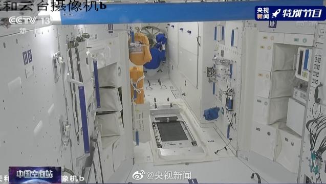 历史一刻!第二批航天员进入中国空间站